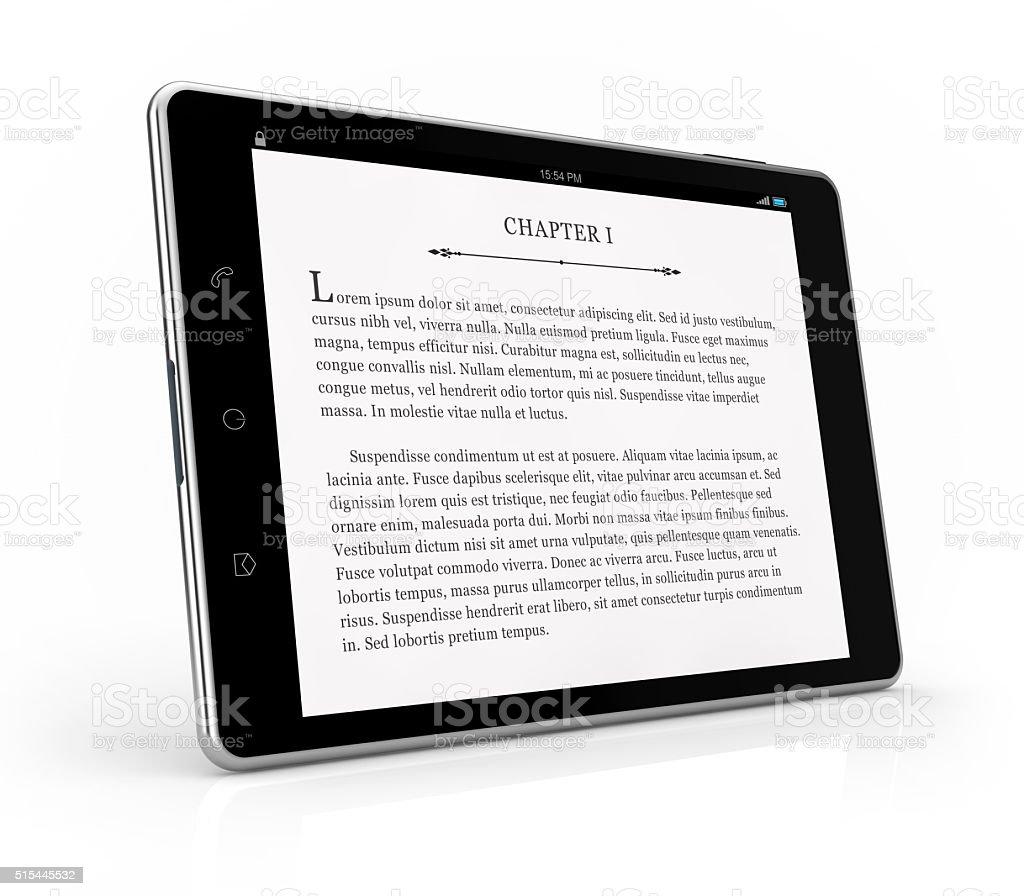 tablet ebook reader stock photo