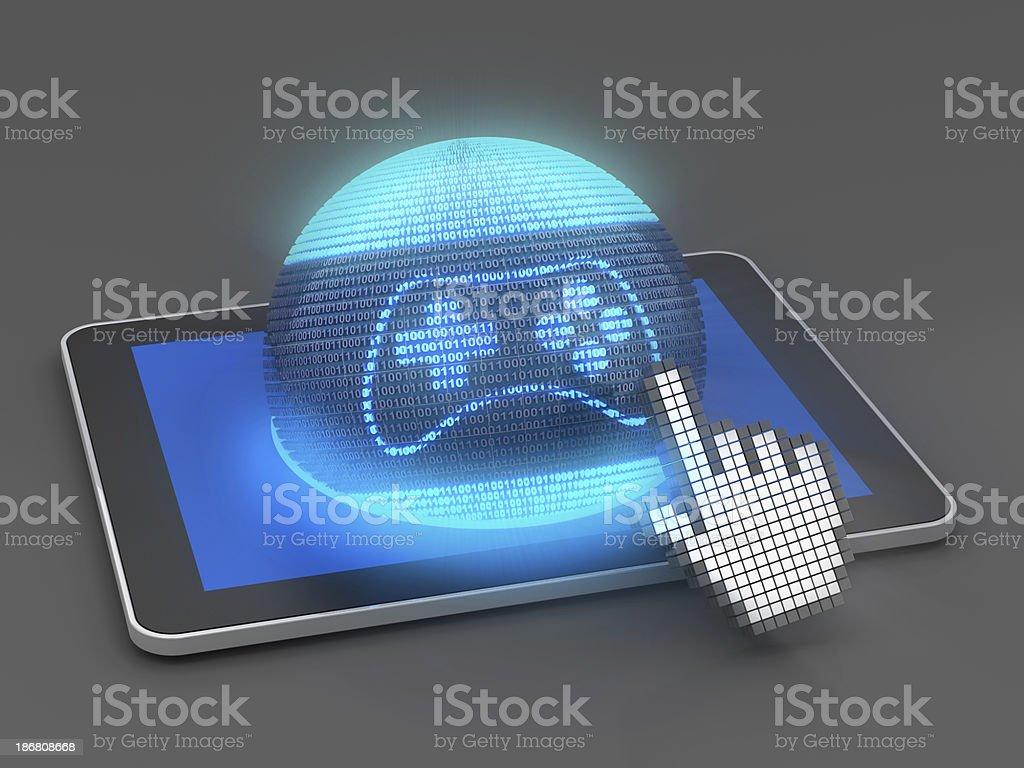 Tablet gaming royalty-free stock photo