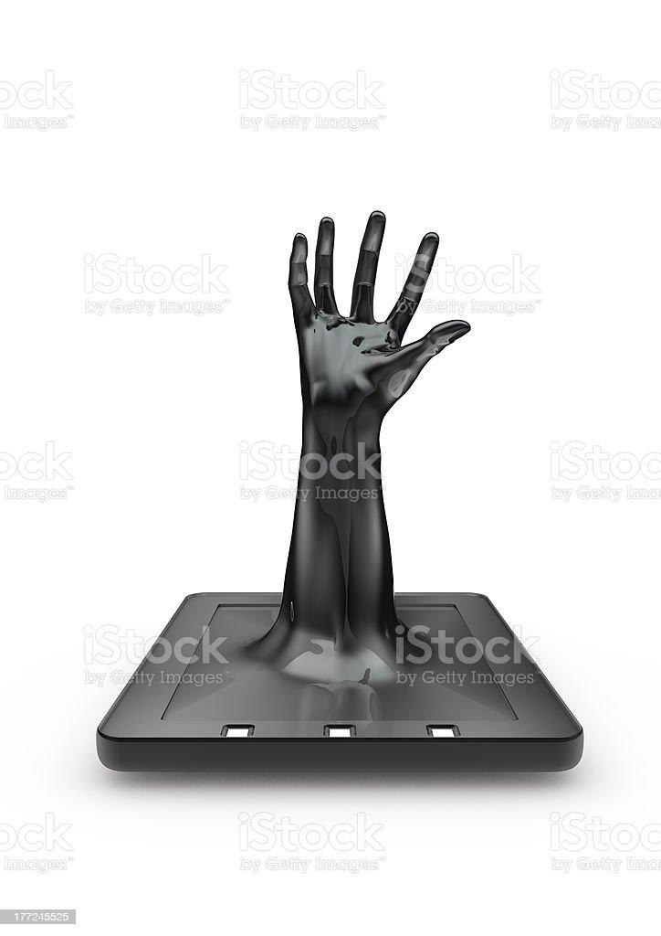 Tablet grab royalty-free stock photo