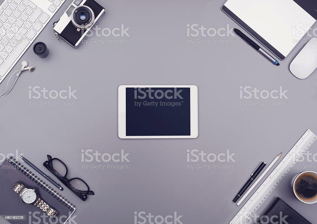 Tablet hero header stock photo