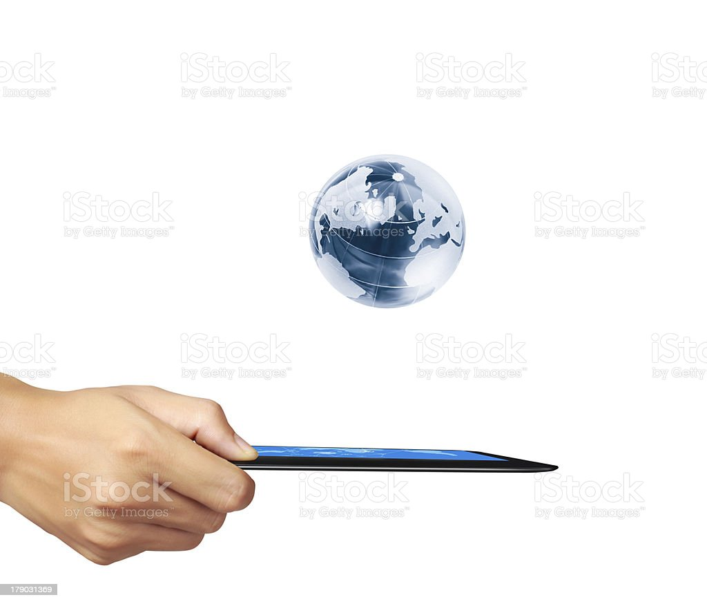 tablet in hands Business man royalty-free stock photo