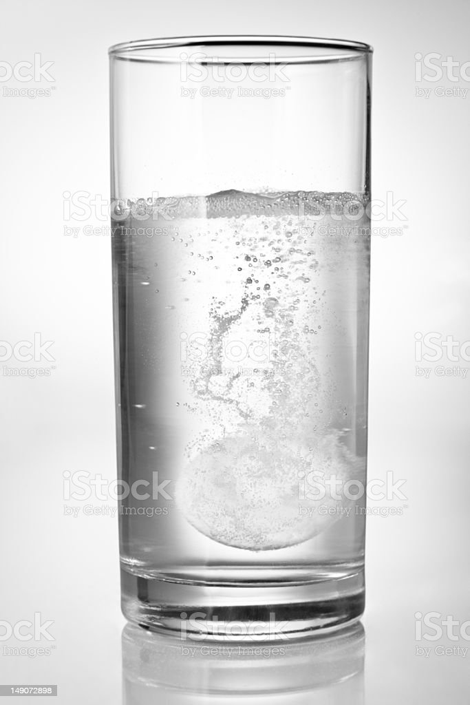 Tablet in water royalty-free stock photo