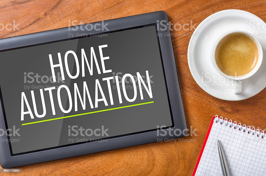 Tablet on a desk - Home Automation