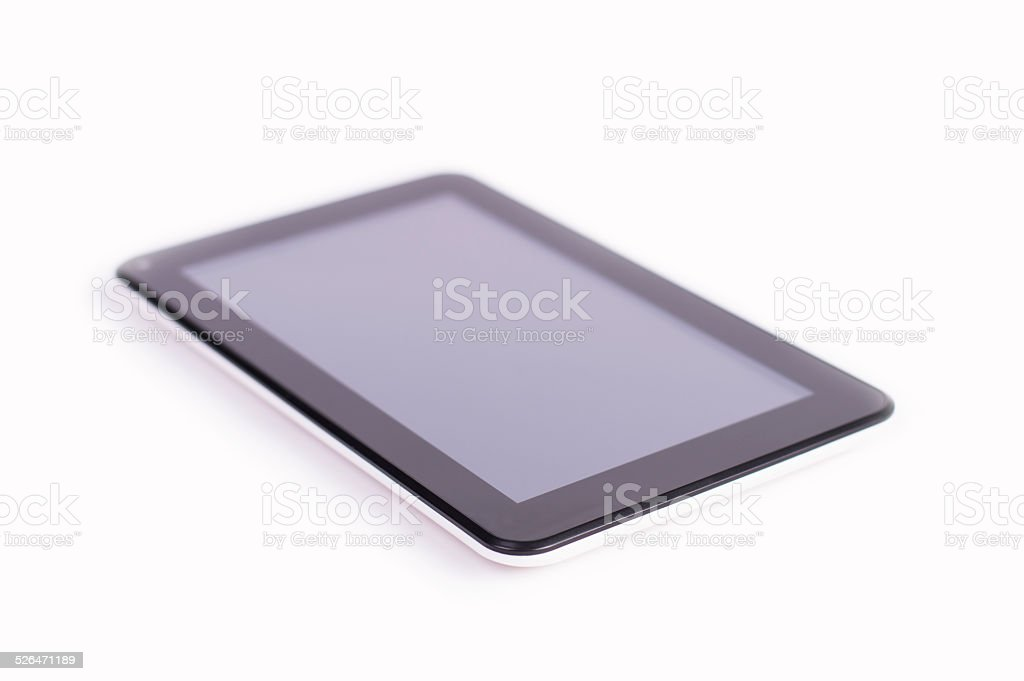 Tablet on white background 1 stock photo