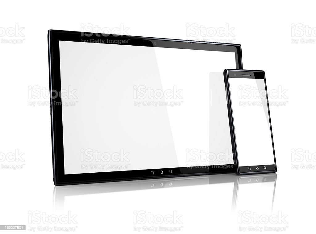 Tablet PC e smartphone foto royalty-free