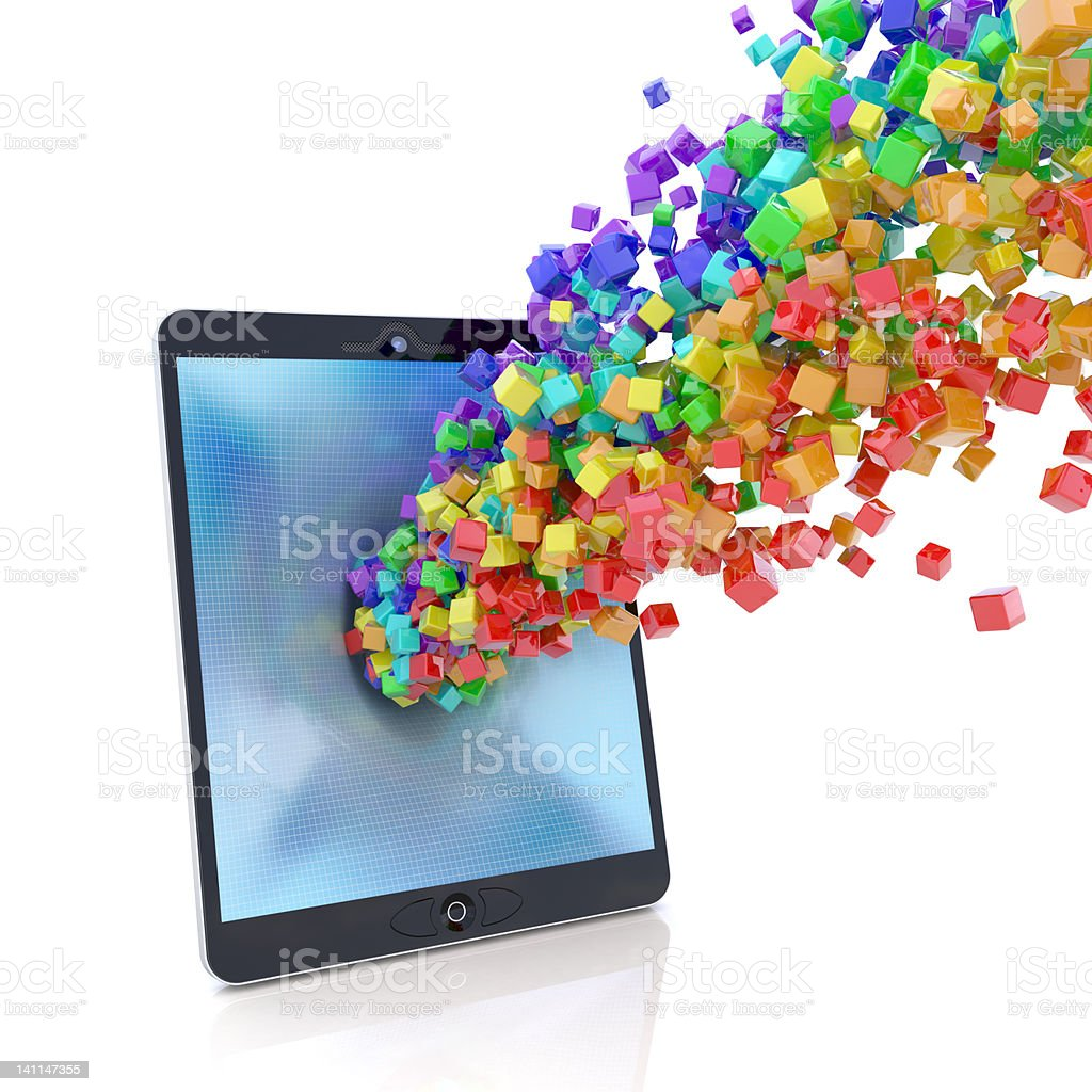 Tablet PC applications royalty-free stock photo