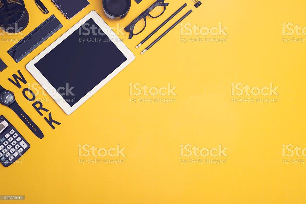 Tablet pc hero header stock photo
