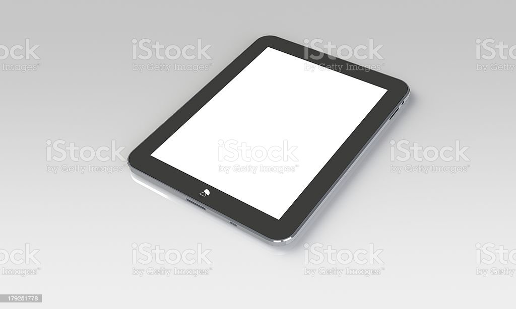 tablet pc isolated on white royalty-free stock photo