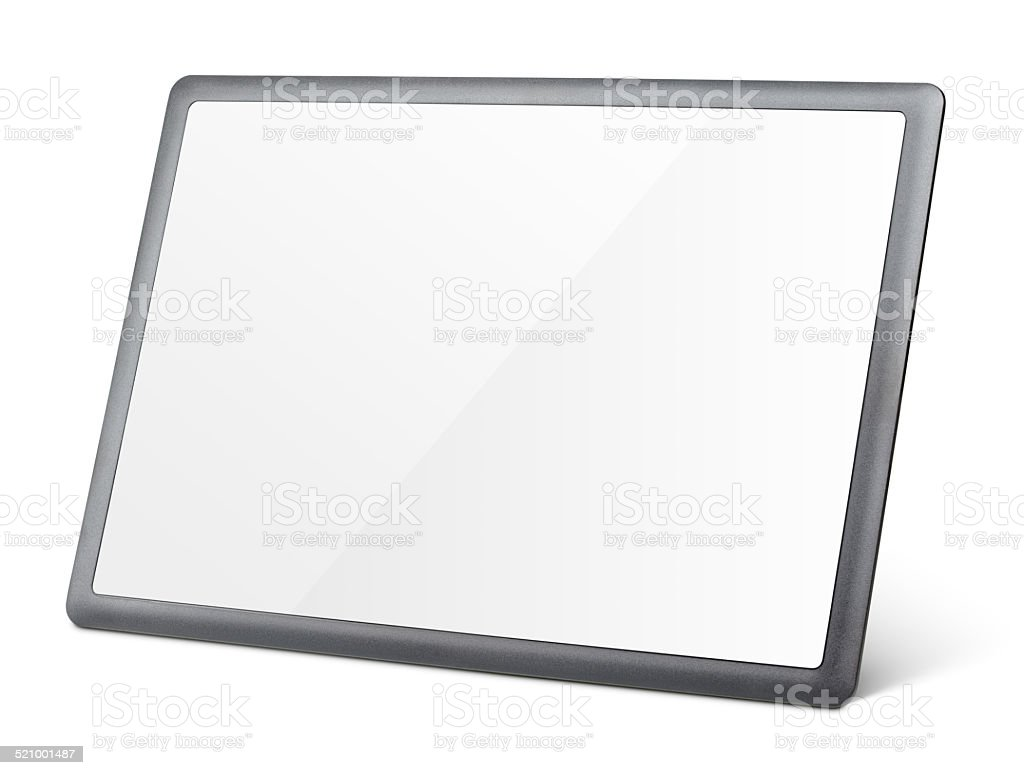 Tablet pc isolated on white stock photo