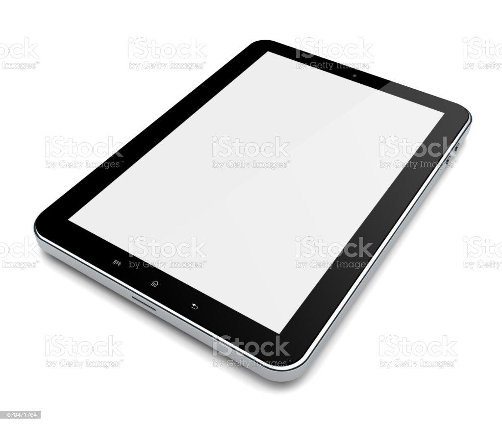 Tablet PC on white stock photo