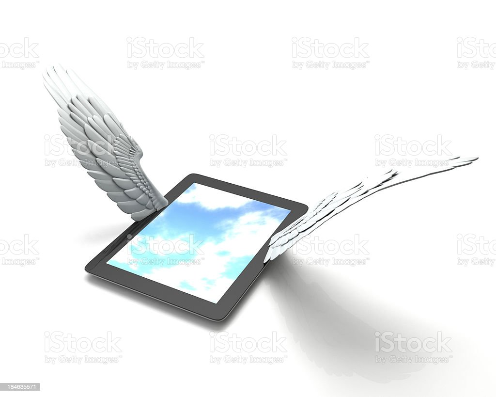 Tablet PC to take off stock photo