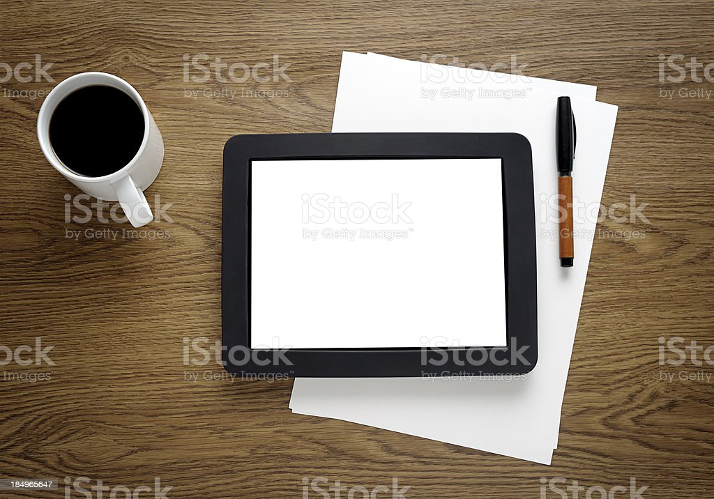 Tablet PC with a blank screen royalty-free stock photo