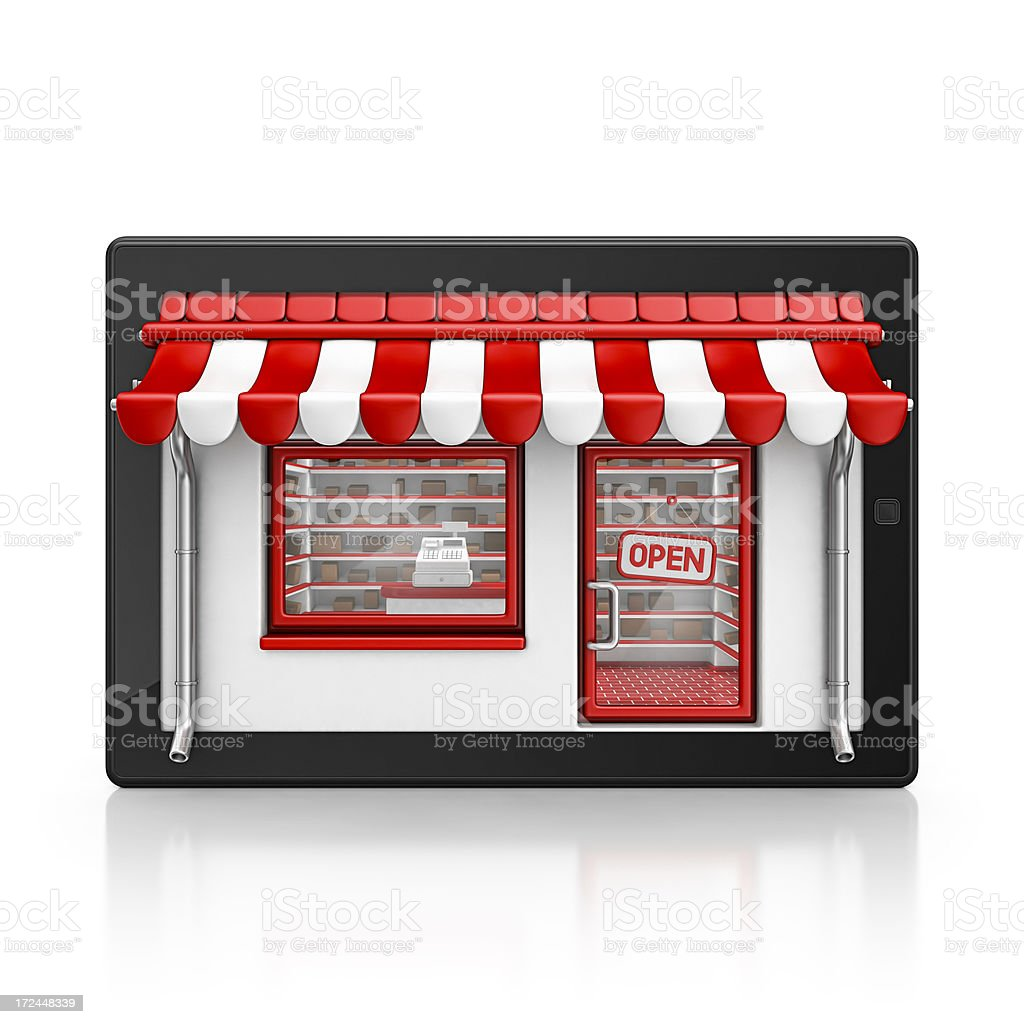 tablet store royalty-free stock photo