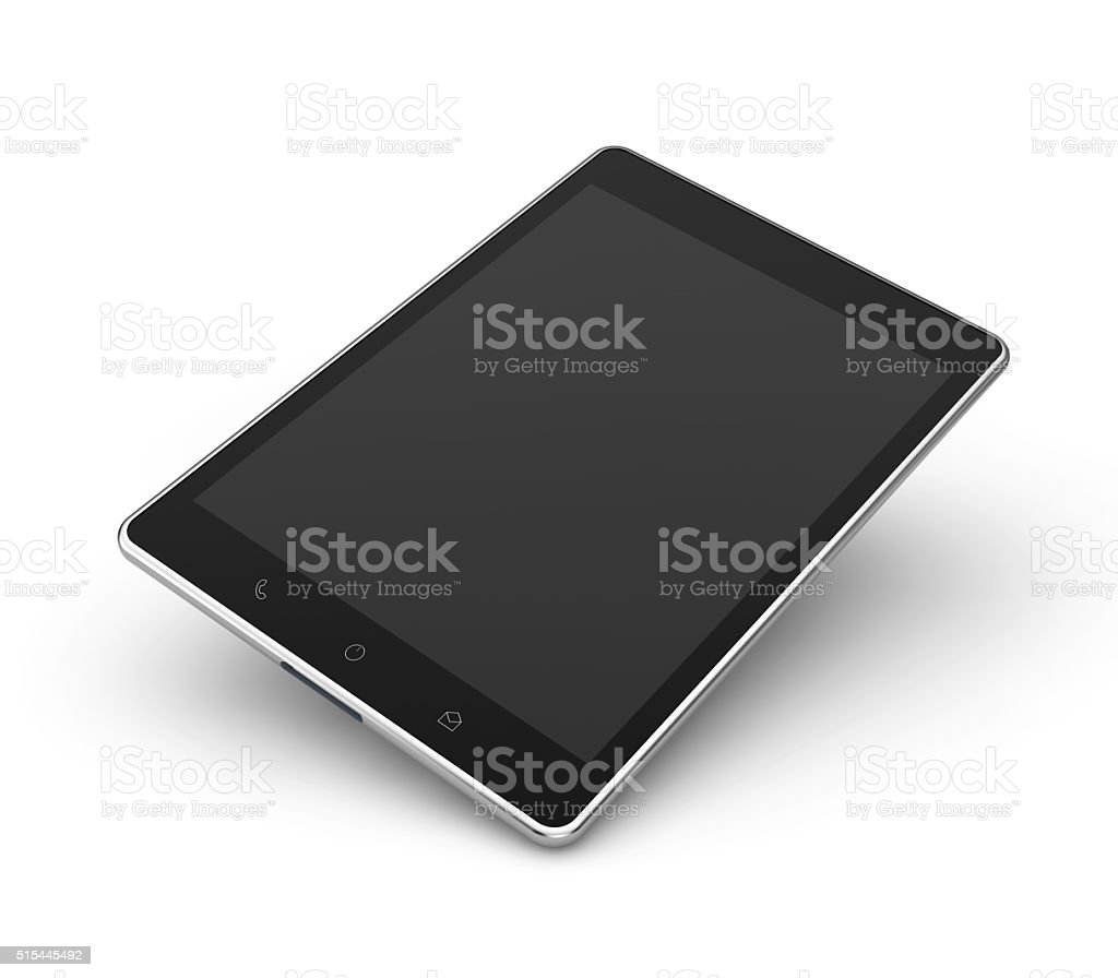 tablet top view mockup stock photo