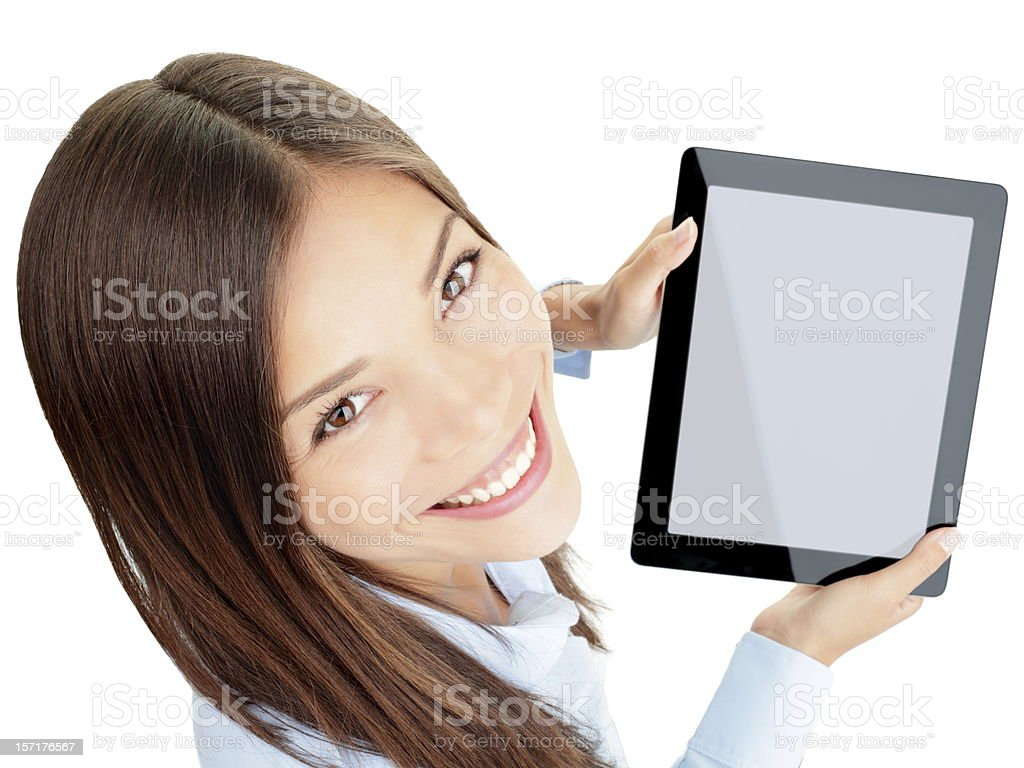 Tablet woman royalty-free stock photo