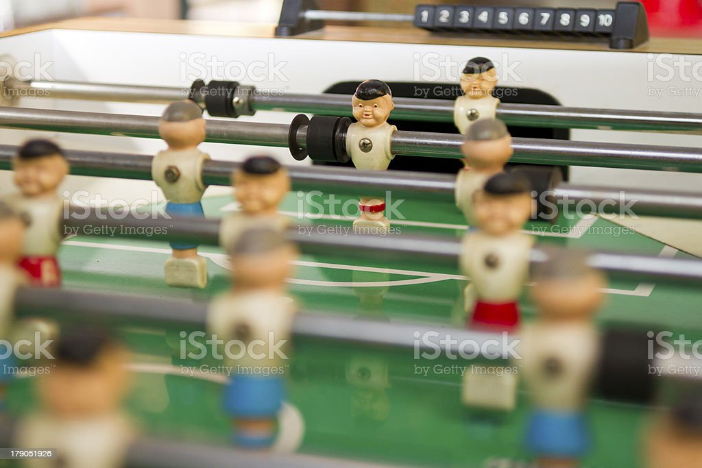 Table-top Game of Foosball royalty-free stock photo