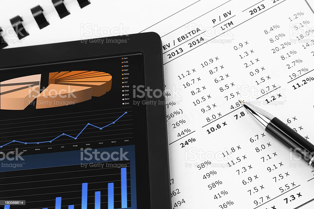 Tablet-PC and Pen royalty-free stock photo