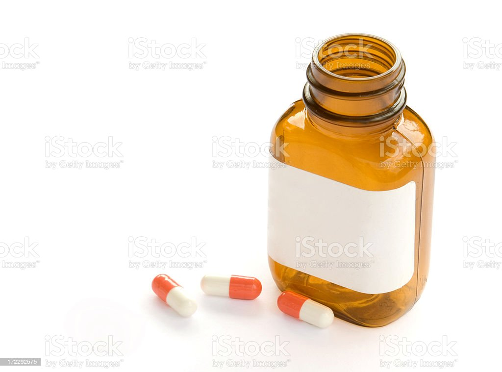 Tablets and Bottle royalty-free stock photo