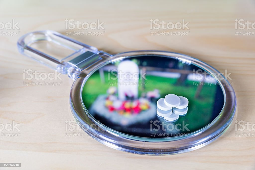 Tablets can be dangerous stock photo