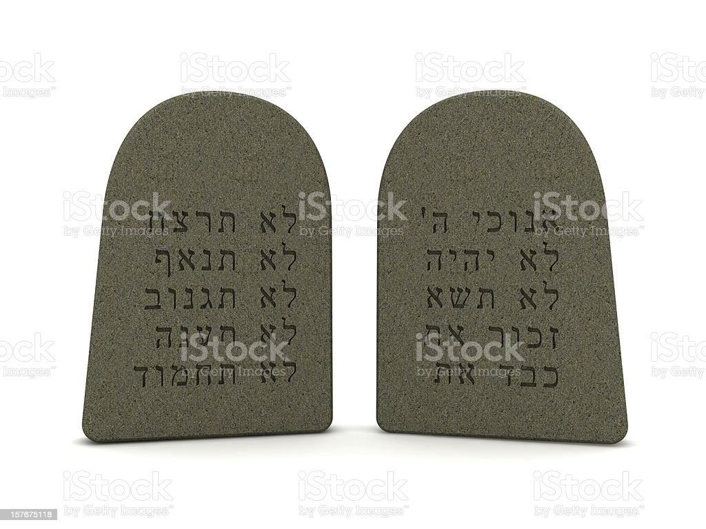 Tablets of Stone stock photo