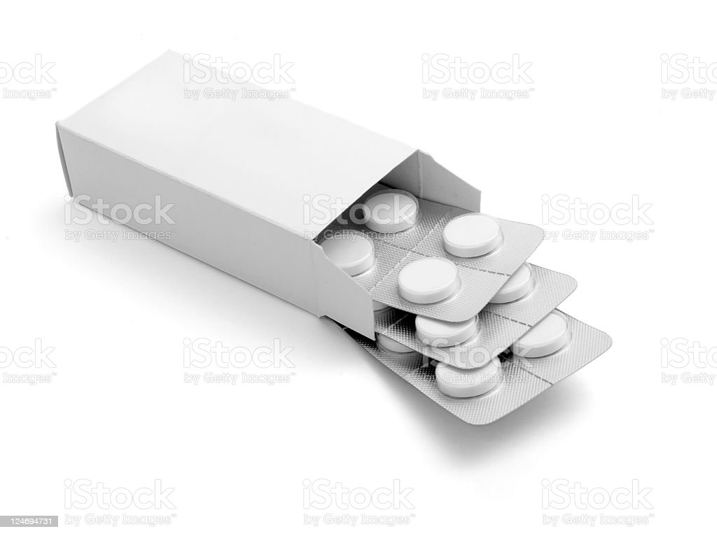 tablets package medicine stock photo