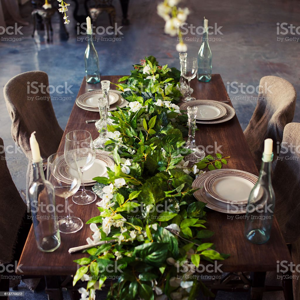 Tableware, eco-friendly style, wood and natural materials, lots of stock photo