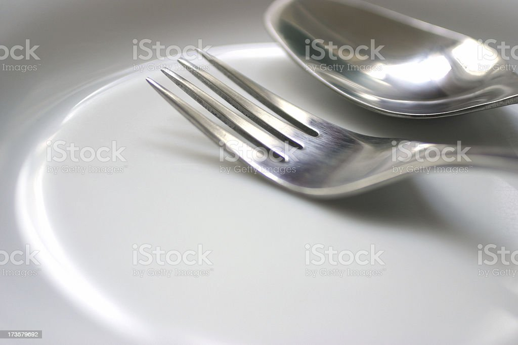 Tableware on Plate royalty-free stock photo