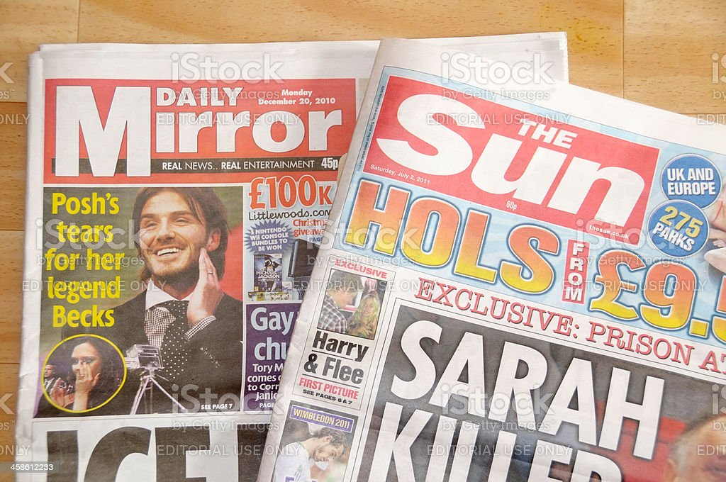Tabloid Newspapers stock photo