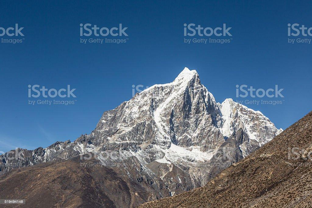 Taboche Peak in Nepal stock photo