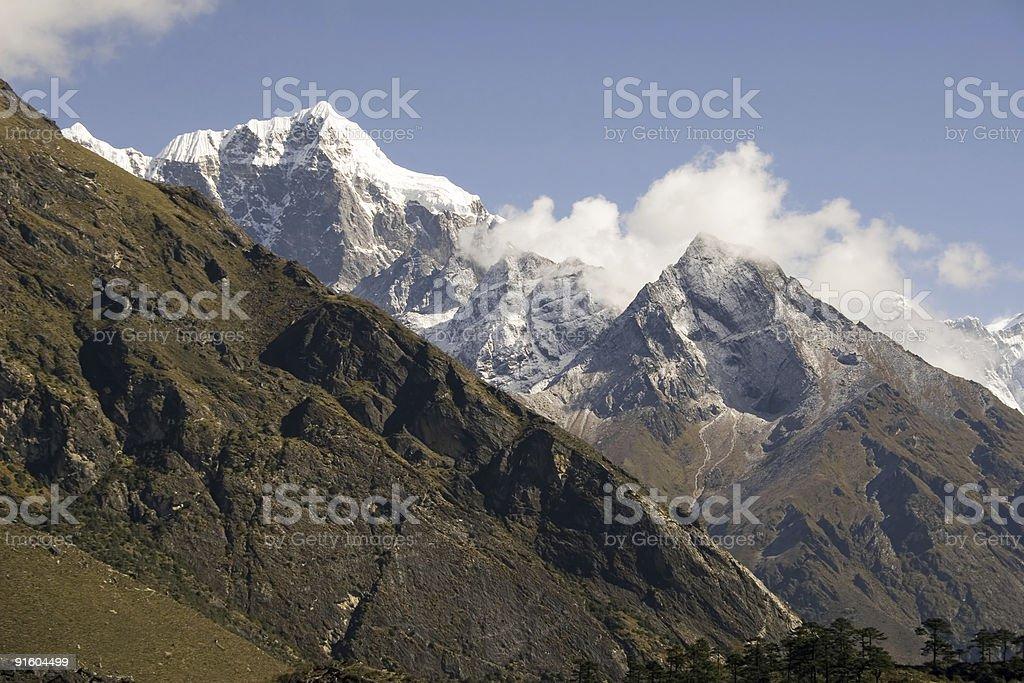 Taboche Peak - Nepal stock photo