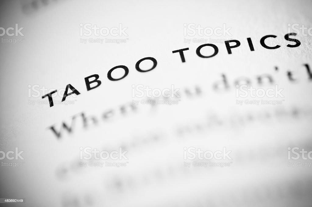 Taboo stock photo