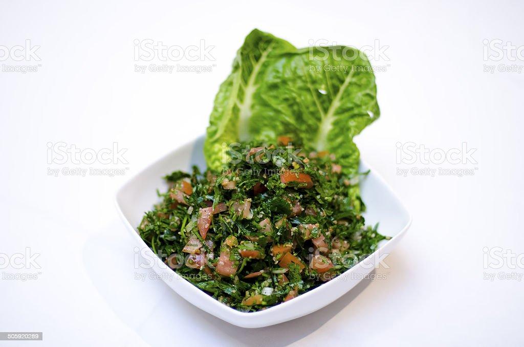 Tabouli salad stock photo
