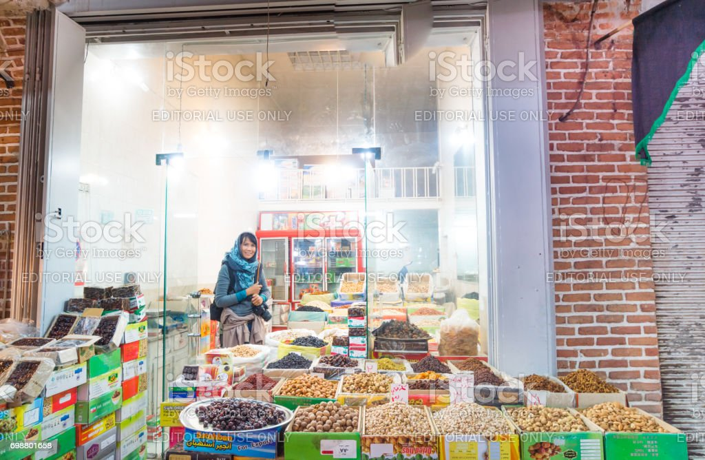 Tabriz Bazaar Tabriz is one of the oldest bazaars in the Middle East and the largest covered bazaar in the world and is one of Iran's UNESCO World Heritage Sites.Located Tabriz city - East Azerbaijan province , Iran. stock photo