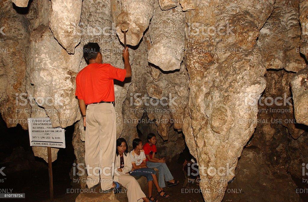 Tabuhan Cave in Pacitan stock photo