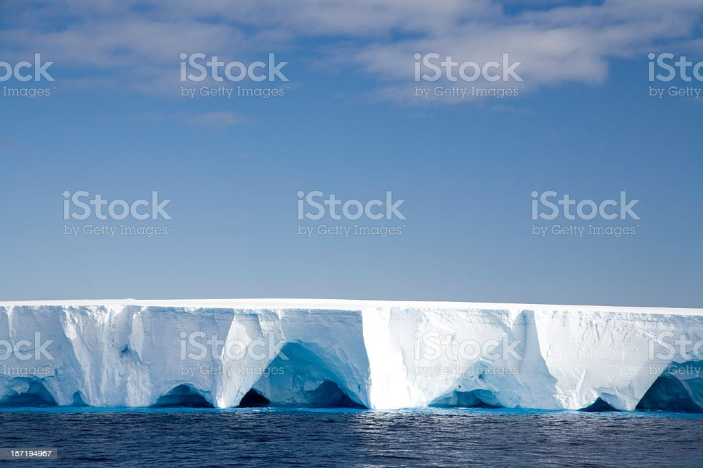 Tabular Iceberg Antarctica III stock photo