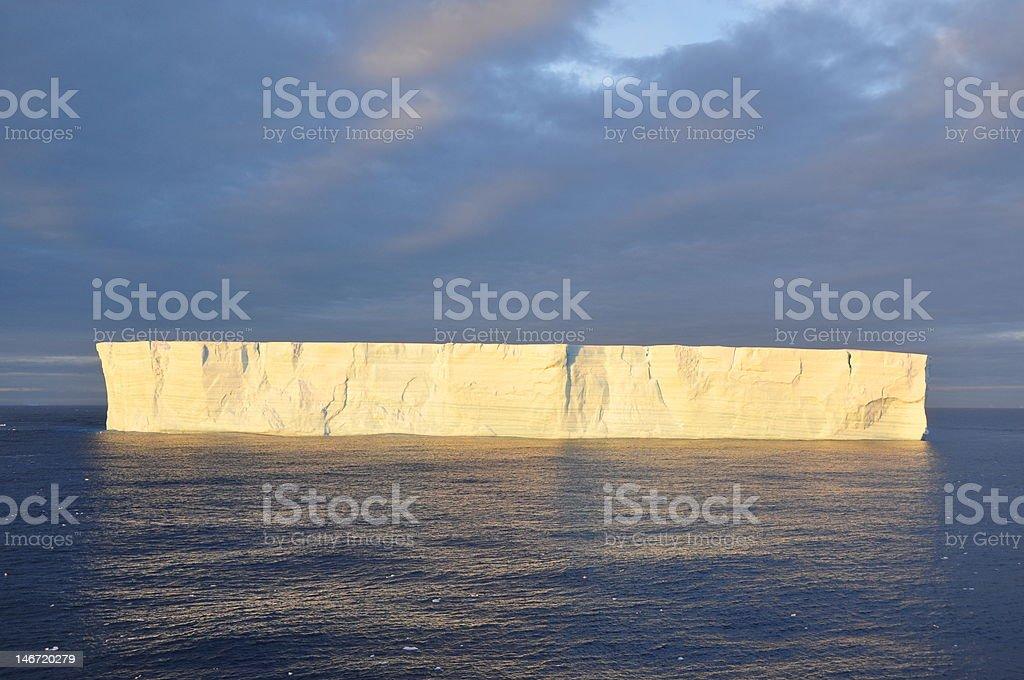 Tabular iceberg, Antarctica stock photo