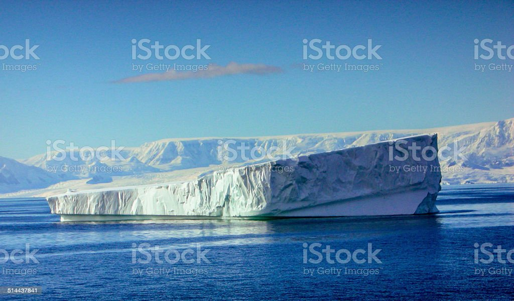 Tabular Iceberg Antarctica stock photo
