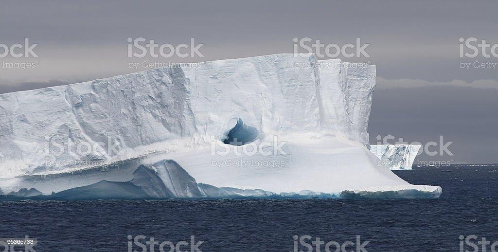 Tabular Iceberg Floating, Antarctic Peninsula, Antarctica royalty-free stock photo