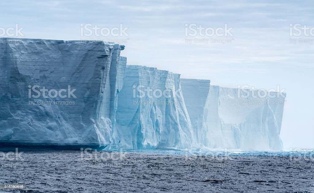 Tabular iceberg in Antarctica stock photo