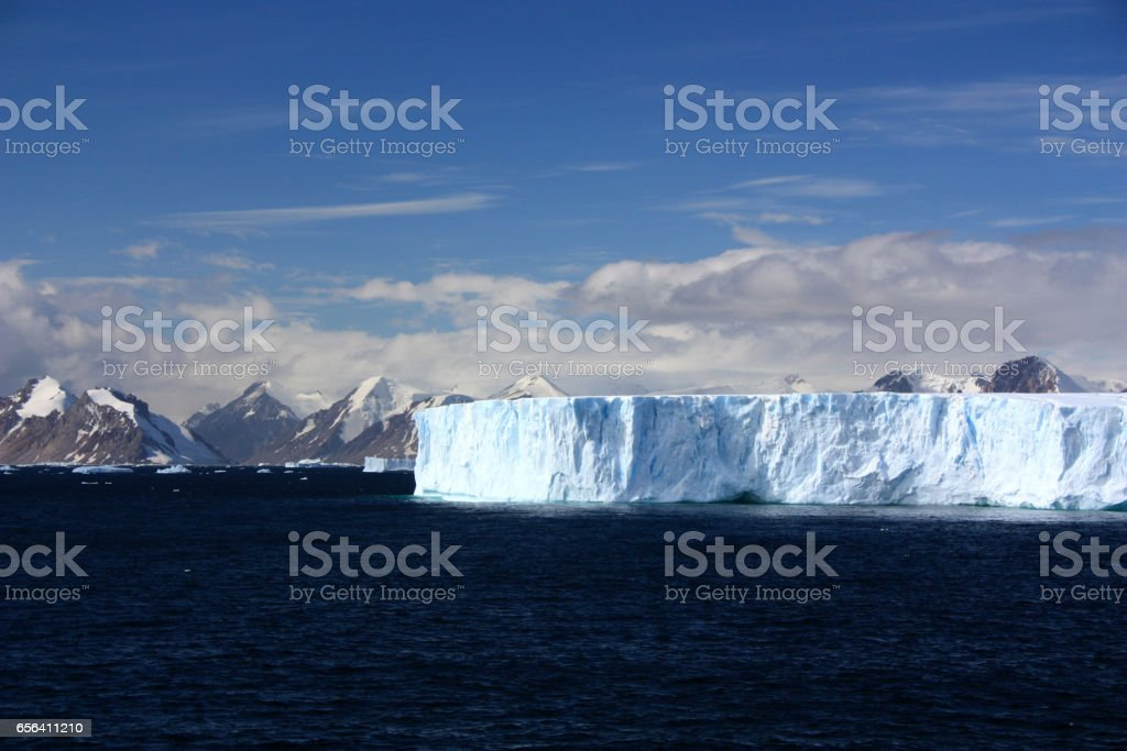 Tabular iceberg-Antarctic stock photo
