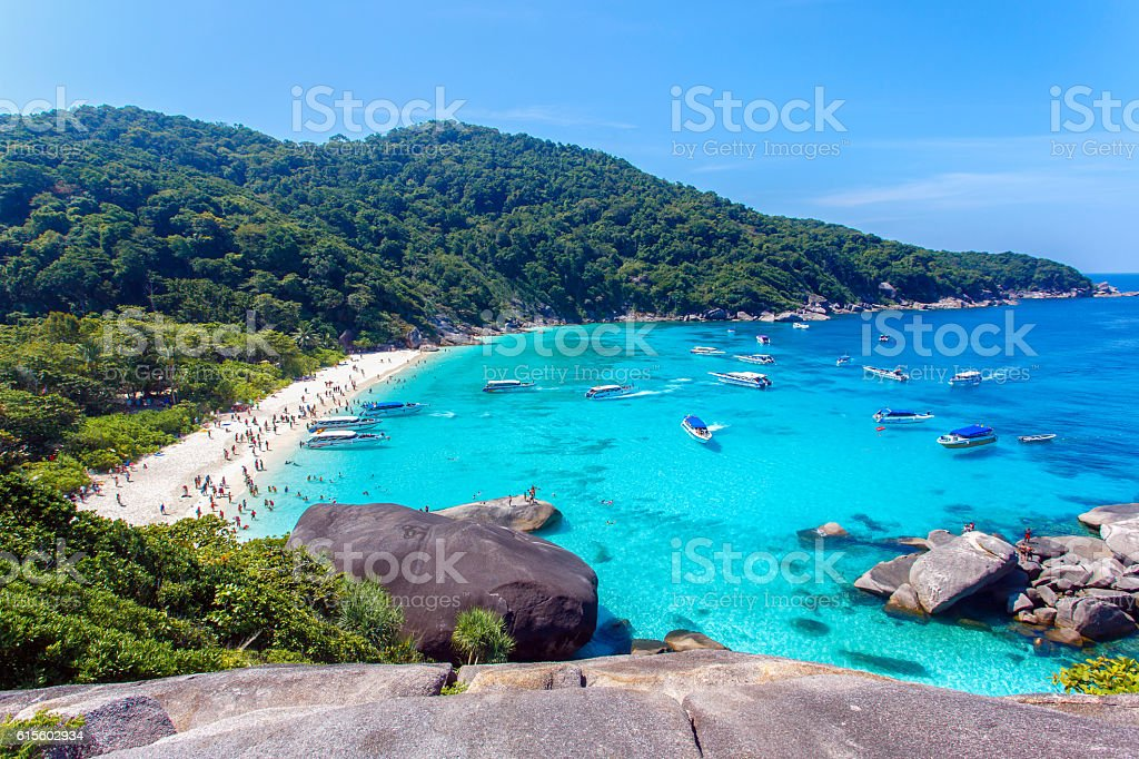 Tachai island, Phang nga, Thailand stock photo