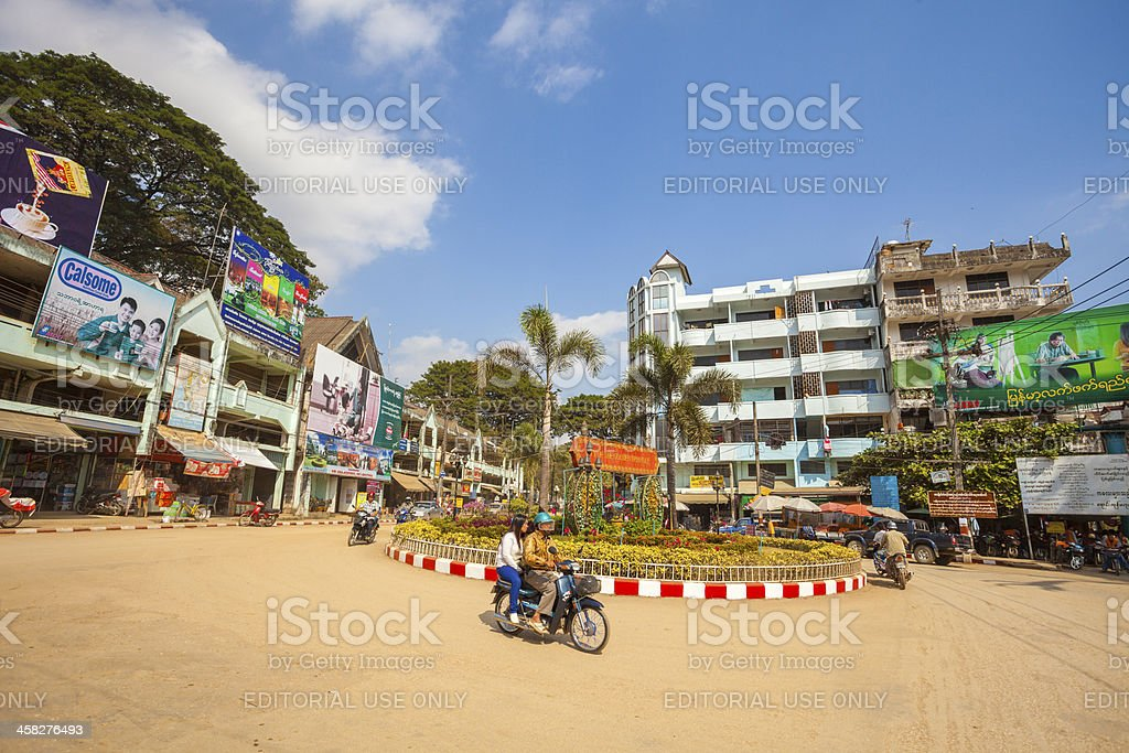 Tachileik, Myanmar local traffic royalty-free stock photo