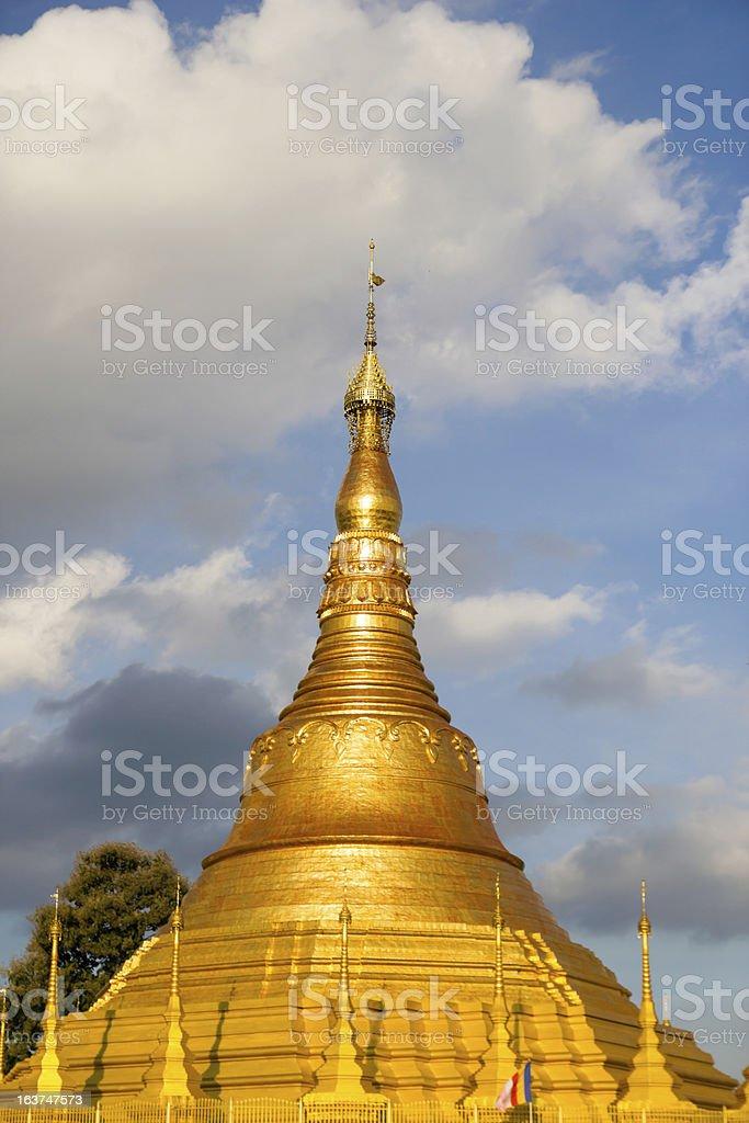 Tachileik Shwedagon Pagoda royalty-free stock photo