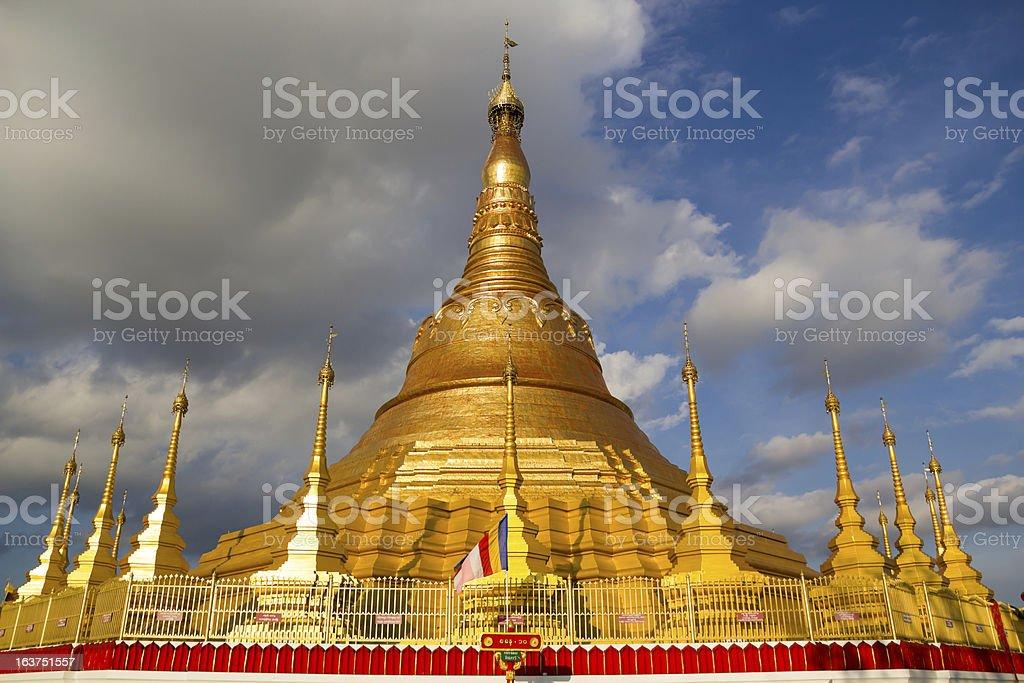 Tachileik Shwedagon Pagoda stock photo