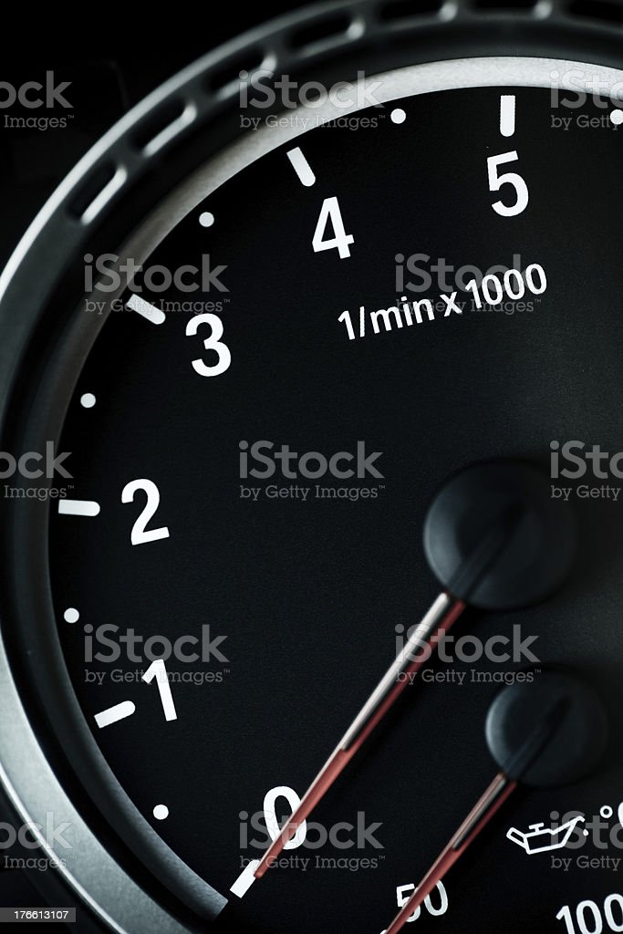 Tachometer royalty-free stock photo