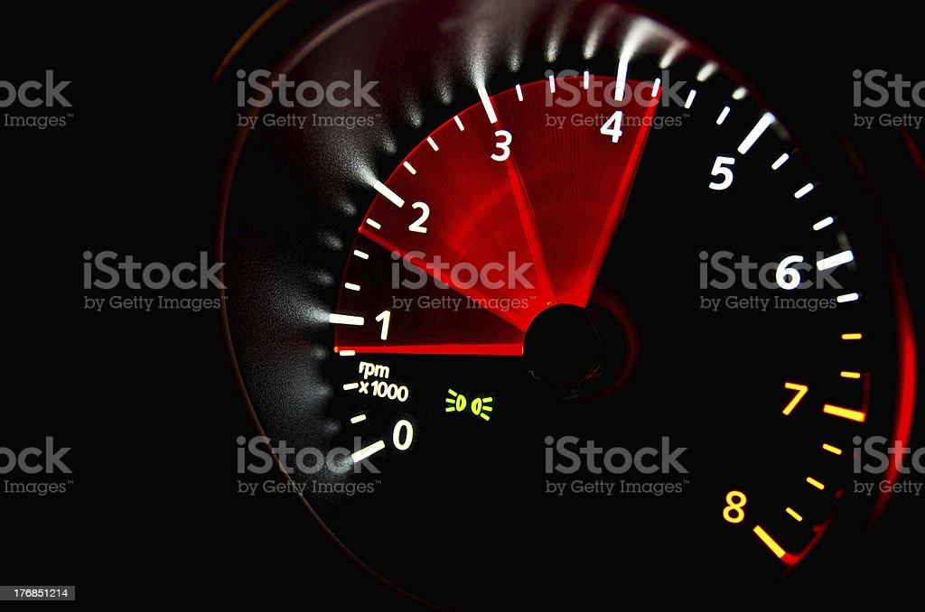Tachometer royalty-free stock photo