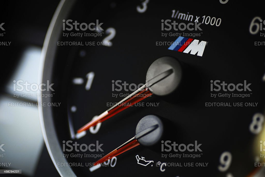 BMW M3 tachometer royalty-free stock photo