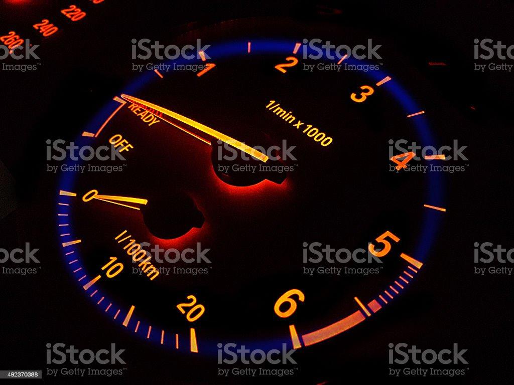 Tachometer stock photo