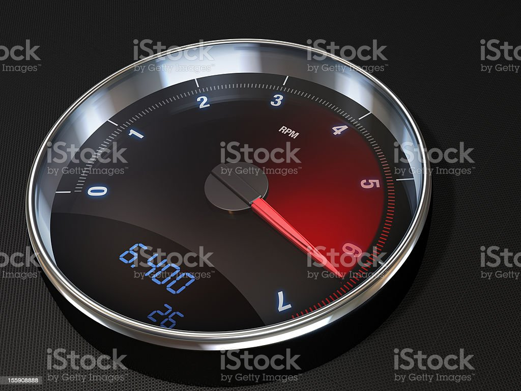 Tachometer Rev counter stock photo