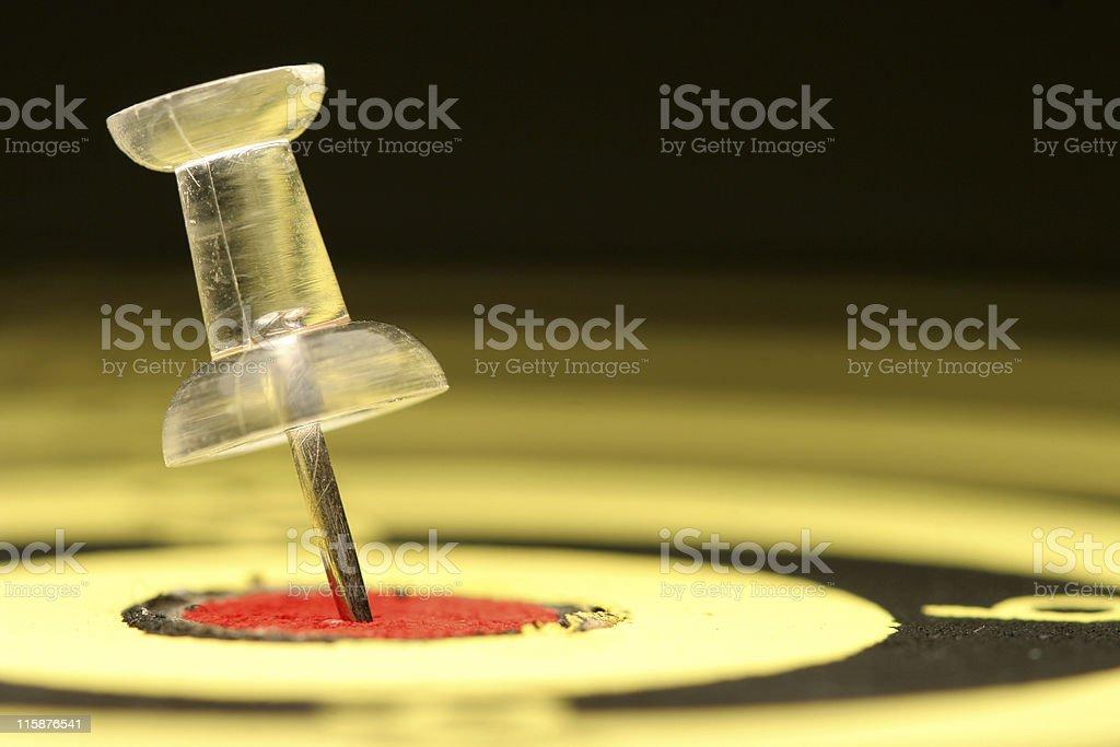 Tack and Bullseye royalty-free stock photo